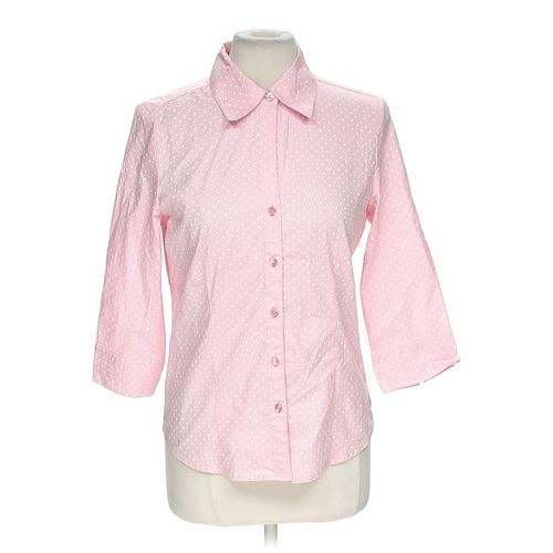 Kim Rogers Polka Dot Button-Up Shirt in size M at up to 95% Off - Swap.com