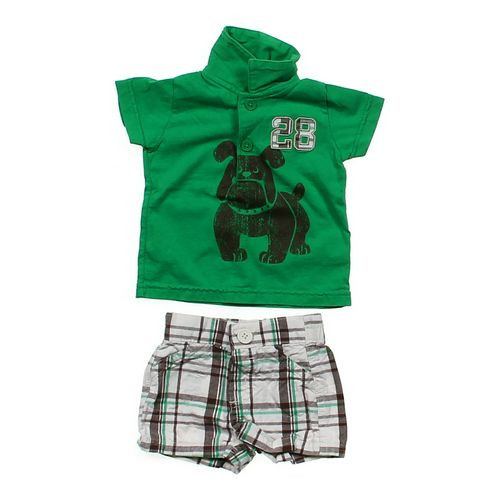 Just One Year Polo & Plaid Shorts Outfit in size 3 mo at up to 95% Off - Swap.com