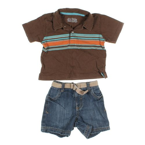 Old Navy Polo Shirt & Shorts Set in size 6 mo at up to 95% Off - Swap.com