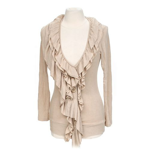 Boston Proper Ruffled Front Cardigan in size XS at up to 95% Off - Swap.com