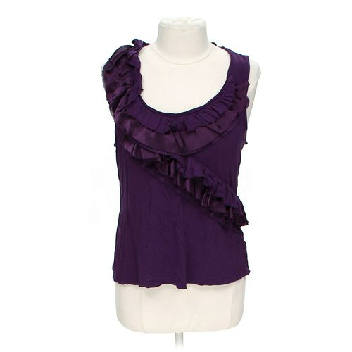 Apt. 9 Ruffled Neck Tank Top in size L at up to 95% Off - Swap.com