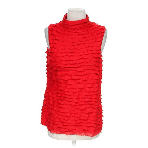 NEW DIRECTIONS Ruffled Sleeveless Blouse in size M at up to 95% Off - Swap.com
