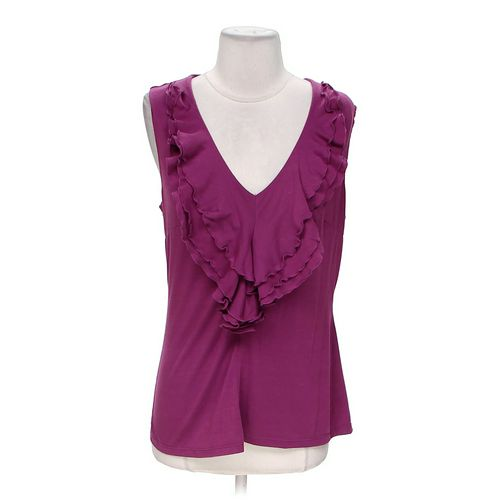 Milano Ruffled Tank Top in size M at up to 95% Off - Swap.com