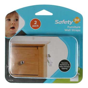 Safety 1st Furniture Wall Straps 2 Count [Pack of 1] for Sale on Swap.com