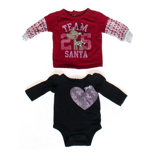 Just One You Santa & Heart Shirt Set in size NB at up to 95% Off - Swap.com
