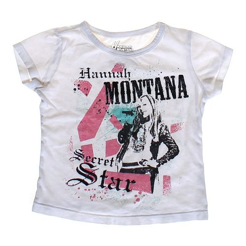 "Hannah Montana ""Secret Star"" T-shirt in size 4/4T at up to 95% Off - Swap.com"