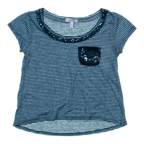 Delia's Sequined Striped T-shirt in size JR 0 at up to 95% Off - Swap.com