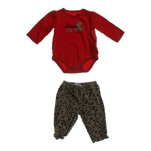 "Carter's ""Seriously Cute"" Bodysuit & Leopard Pants Set in size 6 mo at up to 95% Off - Swap.com"