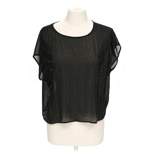 a.n.a Sheer Beaded Blouse in size M at up to 95% Off - Swap.com