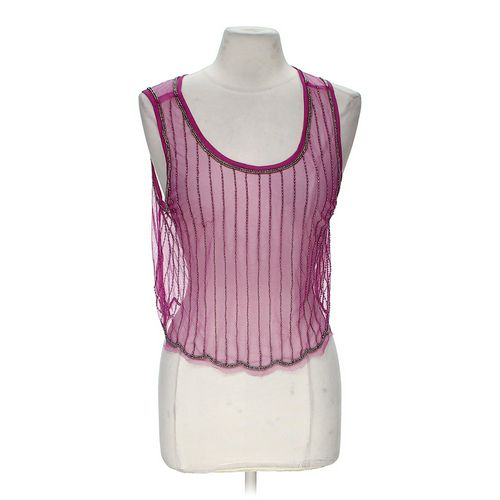 Body Central Sheer Beaded Tank Top in size M at up to 95% Off - Swap.com