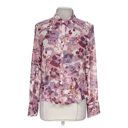 Jones Wear Sheer Button-up Blouse in size 8 at up to 95% Off - Swap.com