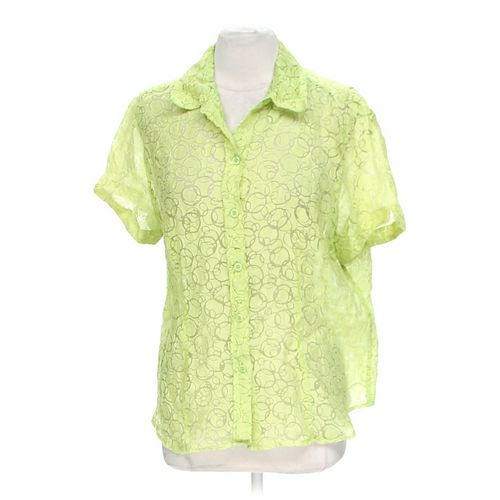 Chico's Sheer Button-up Shirt in size L at up to 95% Off - Swap.com