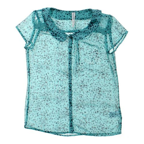 Aéropostale Sheer Button-up Shirt in size JR 7 at up to 95% Off - Swap.com