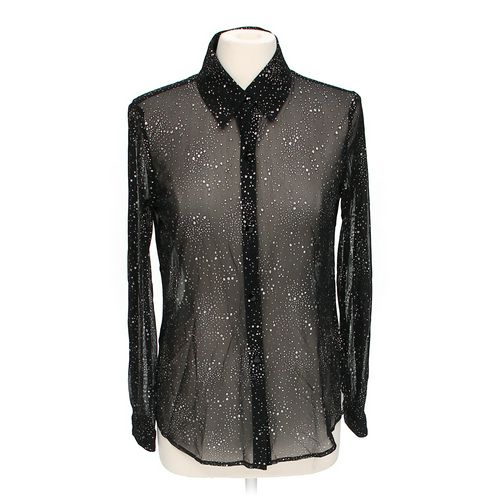 John Roberts Sheer Button-up Shirt in size 8 at up to 95% Off - Swap.com