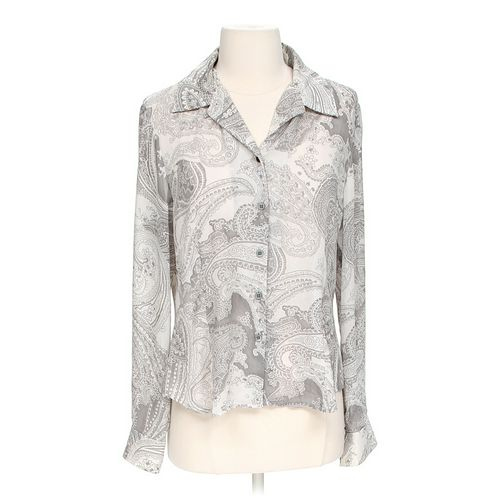 Liz Claiborne Sheer Button-up Shirt in size 6 at up to 95% Off - Swap.com