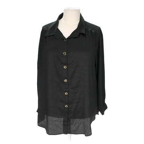 SueBrett Sheer Button-up Shirt in size 2X at up to 95% Off - Swap.com