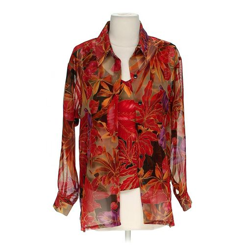 Virgo Lounge Sheer Button-up Shirt in size 6 at up to 95% Off - Swap.com