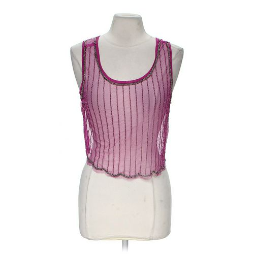 Body Central Sheer Embellished Tank Top in size M at up to 95% Off - Swap.com