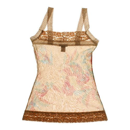 Forever 21 Sheer Floral Patterned Tank Top in size JR 3 at up to 95% Off - Swap.com