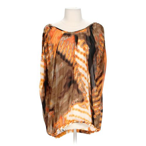 she said… Sheer Graphic Blouse in size S at up to 95% Off - Swap.com