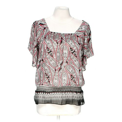 Mudd Sheer Patterned Blouse in size M at up to 95% Off - Swap.com