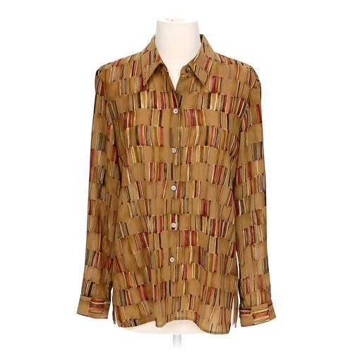 Liz Claiborne Sheer Patterned Button-up Shirt in size 6 at up to 95% Off - Swap.com