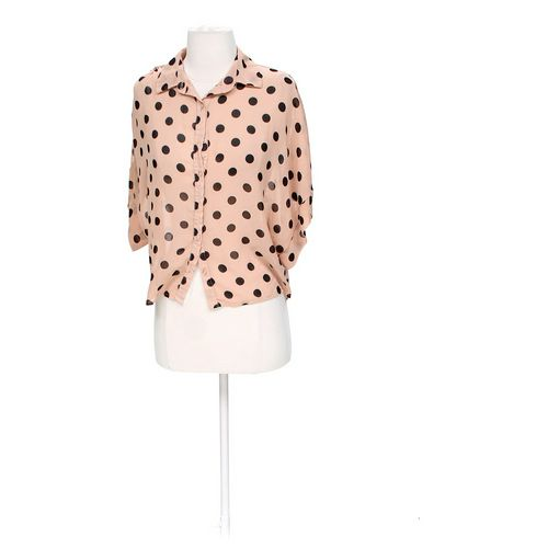 Charlotte Russe Sheer Polka Dot Blouse in size XS at up to 95% Off - Swap.com
