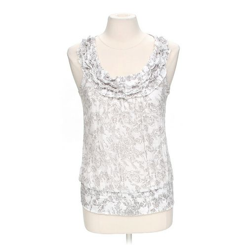 Mine Sheer Ruffled Patterned Tank in size M at up to 95% Off - Swap.com