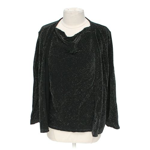 Notations Shimmery Mock Layered Shirt in size L at up to 95% Off - Swap.com