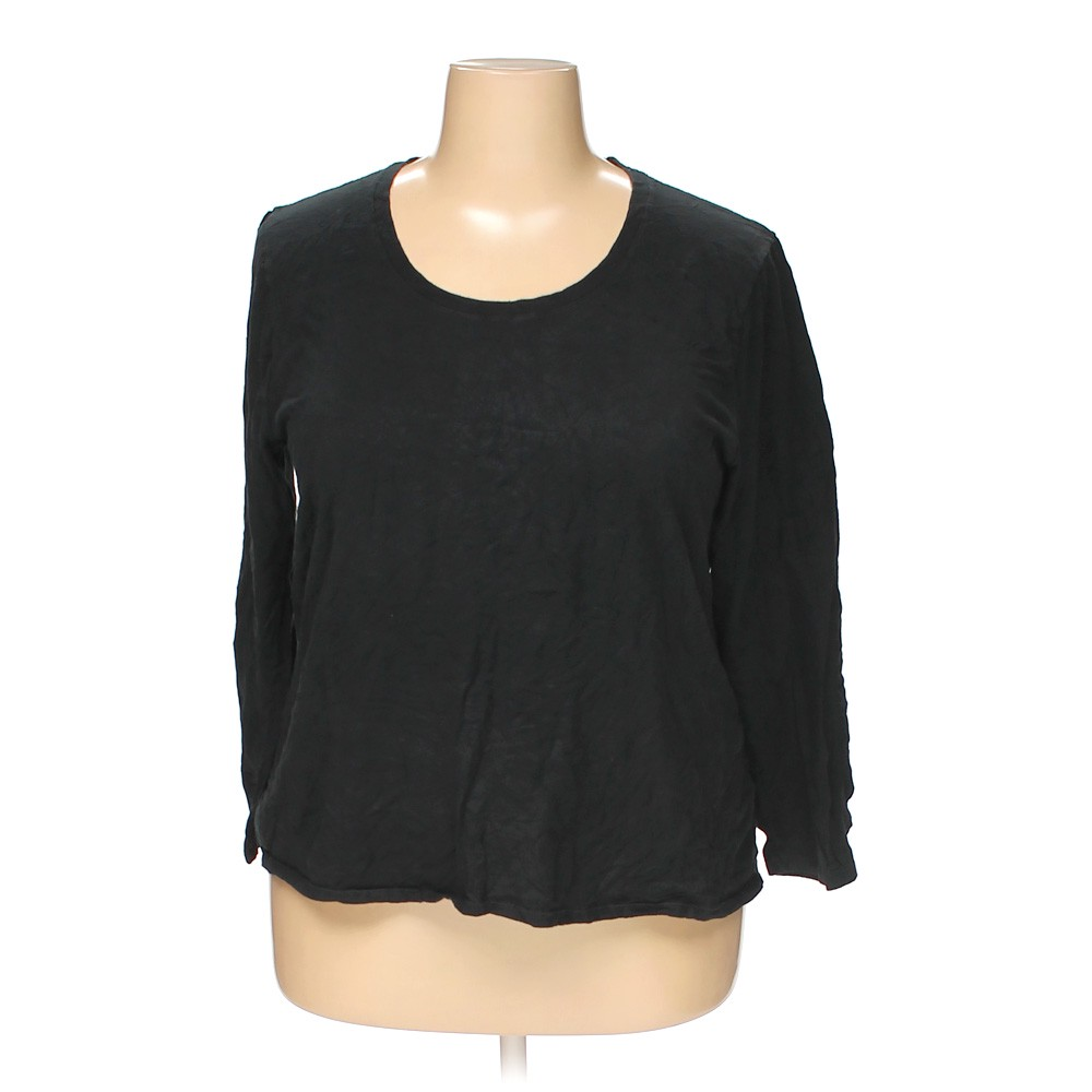 Just My Size Solid Cotton Shirt Size 2x Black