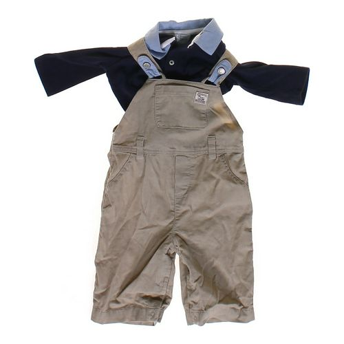 Chaps Shirt  & Overalls Set in size 6 mo at up to 95% Off - Swap.com