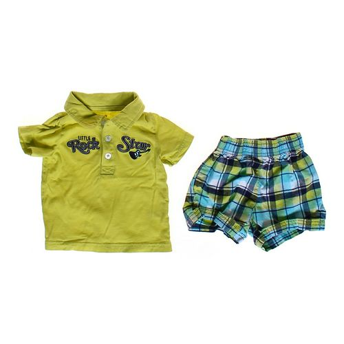 Carter's Shirt & Plaid Shorts Outfit in size 6 mo at up to 95% Off - Swap.com