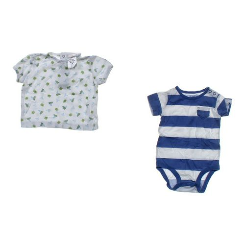 Just One Year Shirt & Striped Bodysuit in size 3 mo at up to 95% Off - Swap.com