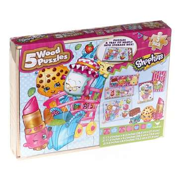 Shopkins Wood Puzzles 5-Pack for Sale on Swap.com