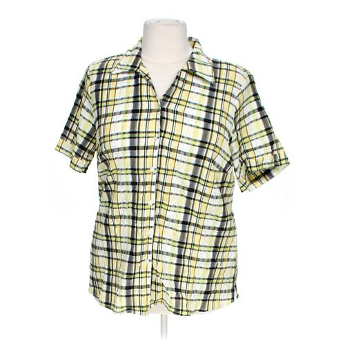 Allison Daley Short Sleeve Button-up Shirt in size 20 at up to 95% Off - Swap.com
