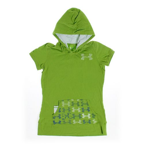 Under Armour Short Sleeve Green Hoodie in size JR 0 at up to 95% Off - Swap.com