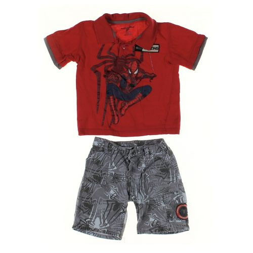 Marvel Shorts & Polo Shirt Set in size 4/4T at up to 95% Off - Swap.com