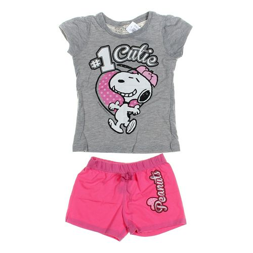 Peanuts Shorts & T-shirt Set in size 4/4T at up to 95% Off - Swap.com