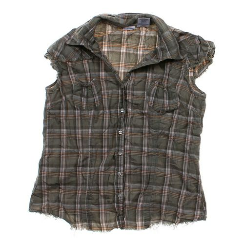 No Boundaries Sleeveless Button-up Shirt in size JR 11 at up to 95% Off - Swap.com