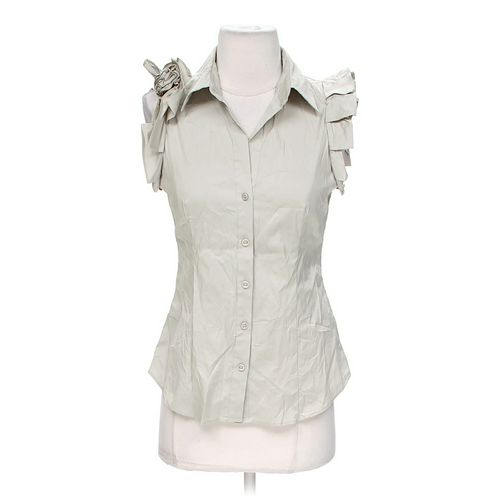 New York & Company Sleeveless Button-up Shirt in size XS at up to 95% Off - Swap.com