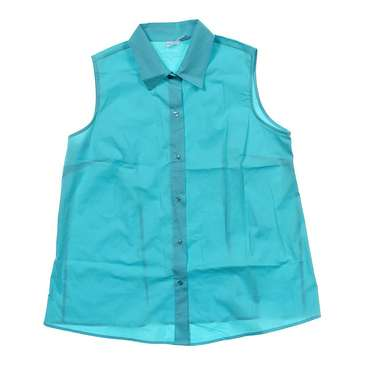 Sleeveless Maternity Button-up Shirt for Sale on Swap.com