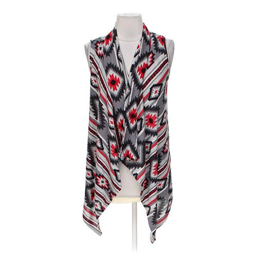 Ambiance Apparel Sleeveless Patterned Open Front Cardigan in size S at up to 95% Off - Swap.com