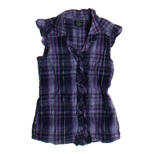 Faded Glory Sleeveless Plaid Shirt in size 7 at up to 95% Off - Swap.com