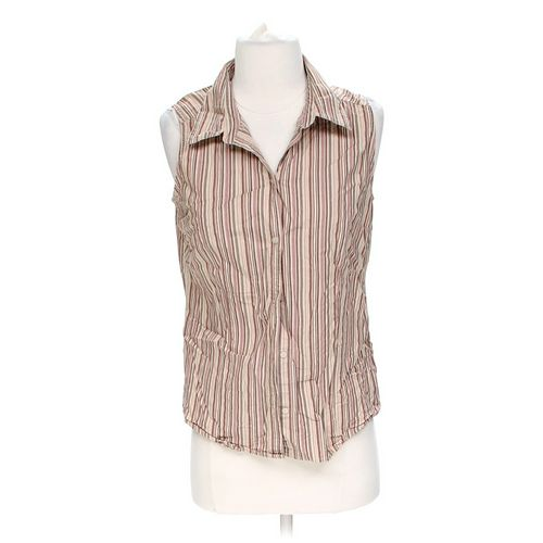 St. John's Bay Sleevleess Button-up Shirt in size S at up to 95% Off - Swap.com