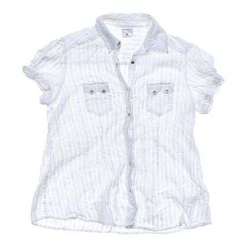 Motherhood Maternity Snap Front Maternity Shirt in size M at up to 95% Off - Swap.com