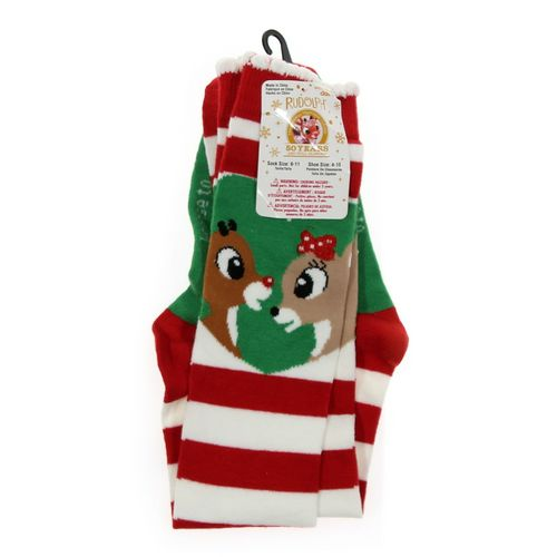 Rudolph the Red-Nosed Reindeer Socks at up to 95% Off - Swap.com