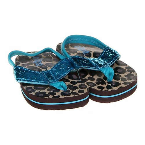 Circo Sparkly Animal Print Flip-Flops in size 4.5 Infant at up to 95% Off - Swap.com