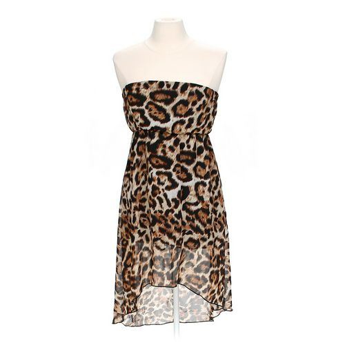 Chelsea's Corner Strapless Animal Print Dress in size JR 7 at up to 95% Off - Swap.com