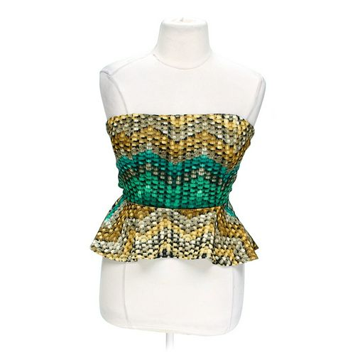 Hot Gal Strapless Peplum Top in size XL at up to 95% Off - Swap.com