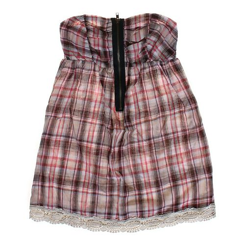 Charlotte Russe Strapless Plaid Dress in size JR 3 at up to 95% Off - Swap.com